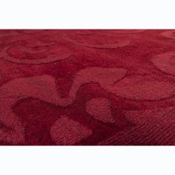 Artist's Loom Hand-tufted Transitional Floral Wool Rug (6'x9') - Thumbnail 2