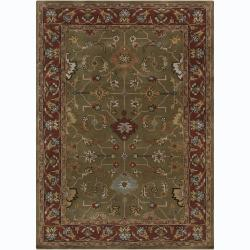 Artist's Loom Hand-tufted Traditional Oriental Wool Rug - 7' x 10' - Thumbnail 0