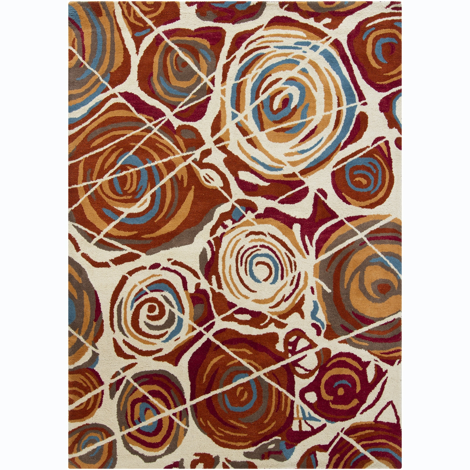 Artist's Loom Hand-tufted Contemporary Abstract Wool Rug (7'x10') - 7' x 10'