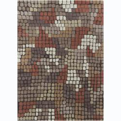 Artist's Loom Hand-tufted Contemporary Geometric Wool Rug - 5' x 7' - Thumbnail 0