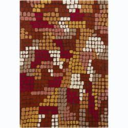 Artist's Loom Hand-tufted Contemporary Geometric Wool Rug (7'x10') - 7' x 10' - Thumbnail 0