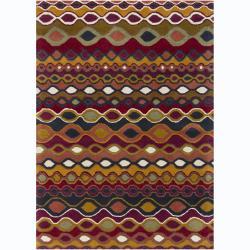 Artist's Loom Hand-tufted Contemporary Geometric Wool Rug - 7' x 10' - Thumbnail 0