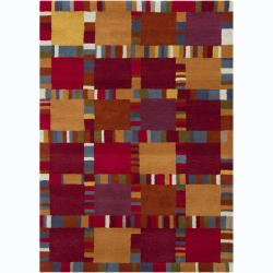 Artist's Loom Hand-tufted Contemporary Geometric Wool Rug - 7' x 10' - Thumbnail 0