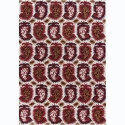 Artist's Loom Hand-tufted Contemporary Abstract Wool Rug (5'x7') - 5' x 7' - Thumbnail 0