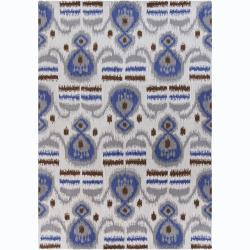 Artist's Loom Hand-tufted Contemporary Abstract Wool Rug - 5' x 7' - Thumbnail 0