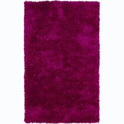 Artist's Loom Hand-woven Shag Rug (3'6 x 5'6) - Thumbnail 0