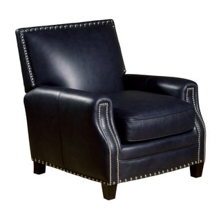 Madrid Leather Press Back Chair in Naples Navy