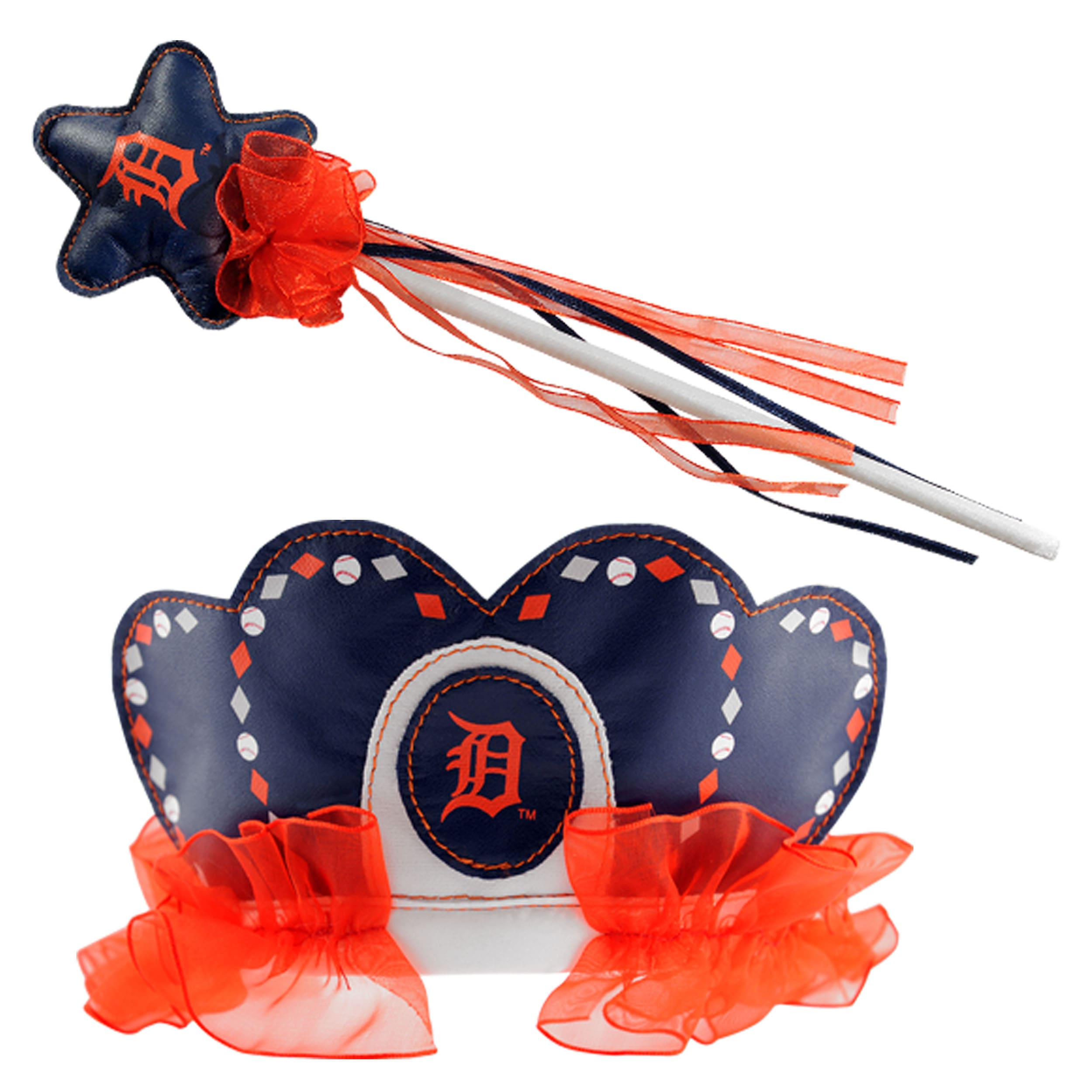 Detroit Tigers Princess Tiara Wand Set