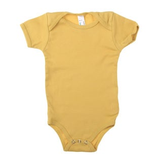 American Apparel Infant Organic Baby Rib Short Sleeve One-piece Bodysuit