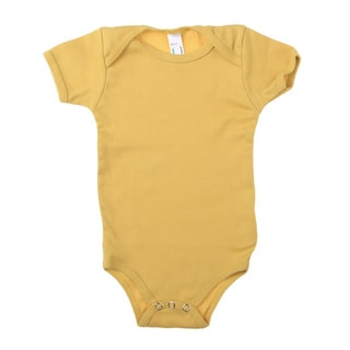 American Apparel Infant Organic Baby Rib Short Sleeve One-piece Bodysuit