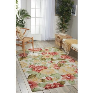 Nourison Hand-hooked Fantasy Ivory Rug (2'6 x 4')