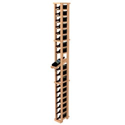 Traditional Redwood One Column Wine Rack with Display Row