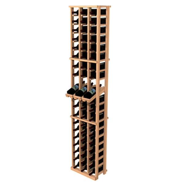 Traditional Redwood 3-Column Wine Rack with Display Row
