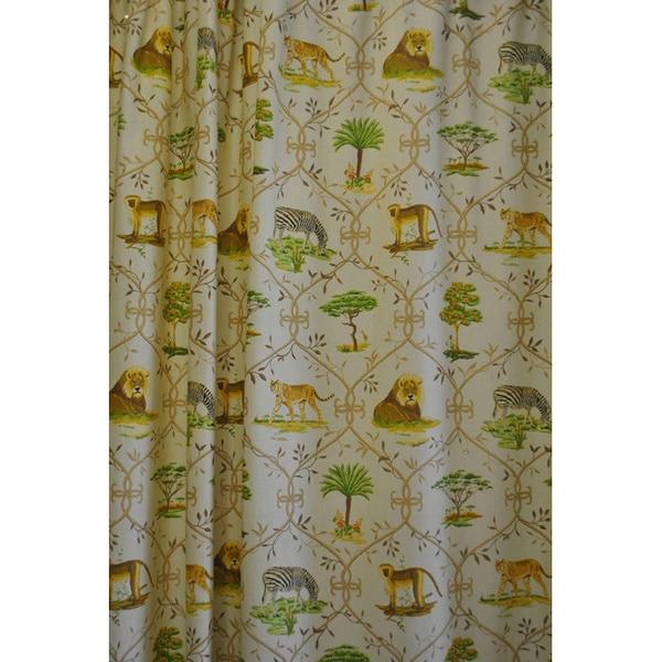 Sherry Kline Jungle Safari Shower Curtain with Hook Set