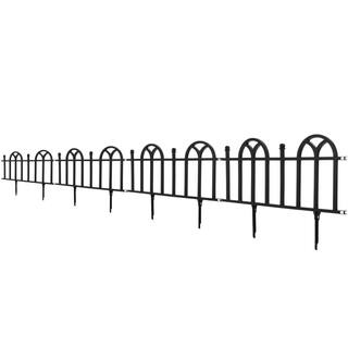 TerraTrade Victorian Black Garden Border Fencing Set|https://ak1.ostkcdn.com/images/products/6831387/6831387/TerraTrade-Victorian-Black-Garden-Border-Fencing-Set-P14360276.jpg?impolicy=medium