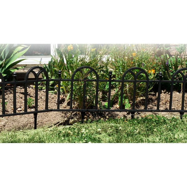 TerraTrade Victorian Black Garden Border Fencing Set   Free Shipping On  Orders Over $45   Overstock.com   14360276