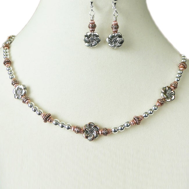 'Fleur de Rocaille' Necklace and Earring Set