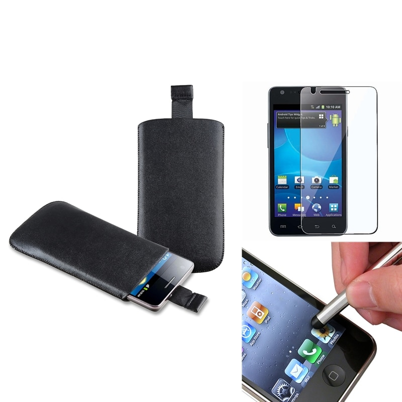 Leather Pouch/ Protector/ Stylus for Samsung Galaxy S II AT&T i777