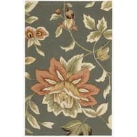 Nourison Hand-hooked Fantasy Gray Accent Rug - 2'6 x 4'