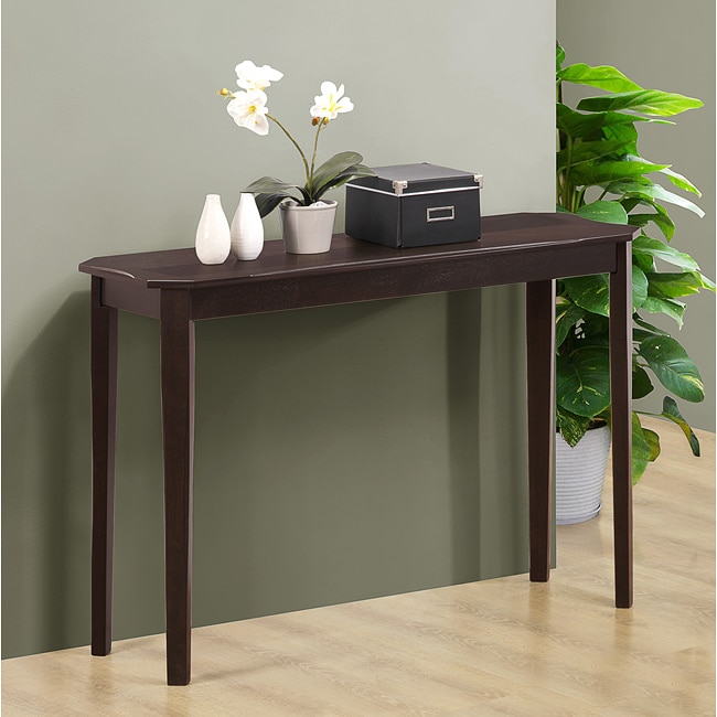 Cappuccino Cherry Veneer Sofa Console Table