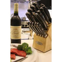 Tsu Cutlery Stainless Steel 15-piece Kitchen Knife Set - Thumbnail 2