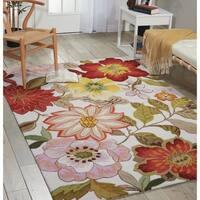Nourison Fantasy Floral Ivory Area Rug (1'9 x 2'9) - 1'9 x 2'9