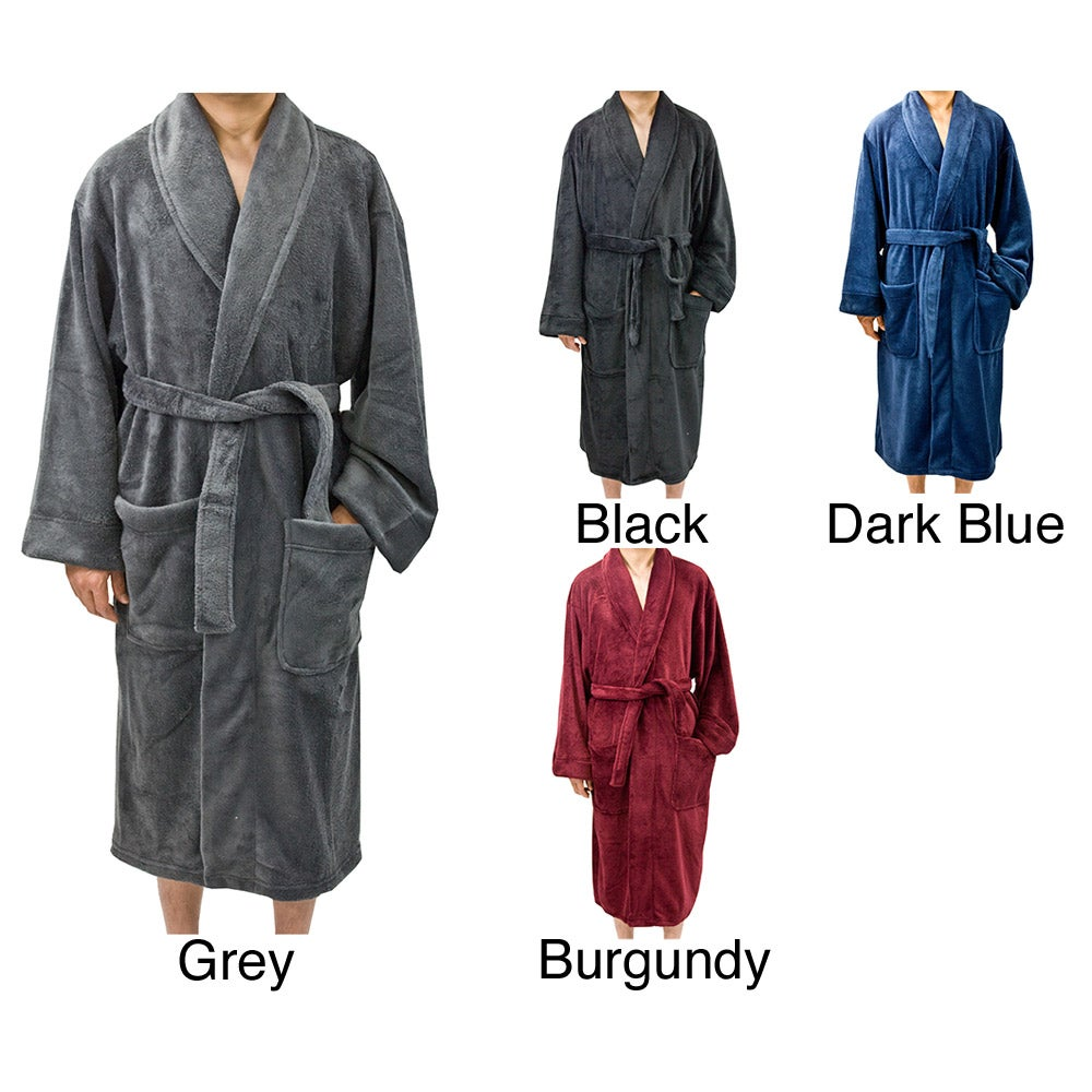 Leisureland Men's Fleece 50 inch Bathrobe