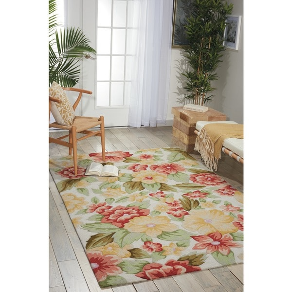 """Nourison Casual Hand-Hooked Fantasy Ivory Rug (1'9"""" x 2'9"""")"""