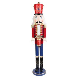 Red 36-inch Drummer Soldier Nutcracker