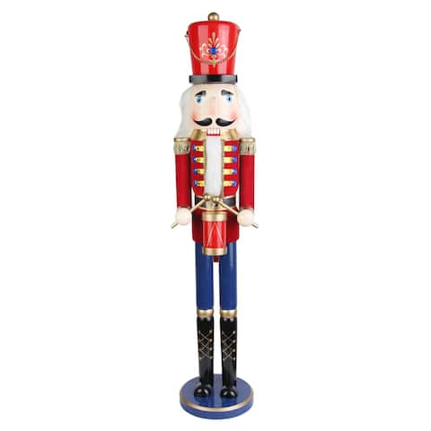 Red 36-inch Drummer Soldier Nutcracker