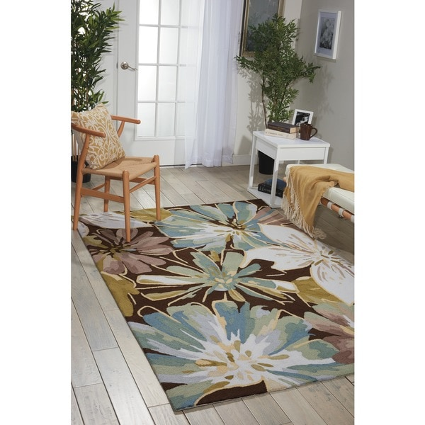 Nourison Hand-hooked Fantasy Brown Rug (1'9 x 2'9) - 1'9 x 2'9
