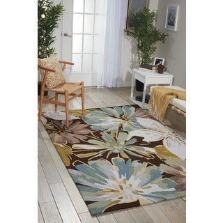 Nourison Hand-hooked Fantasy Brown Rug (1'9 x 2'9)