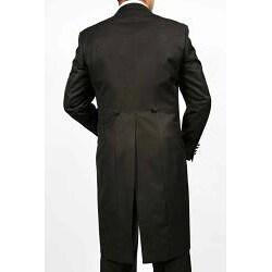 Ferrecci's Men's Black 2-piece 1-button Cutaway Tuxedo
