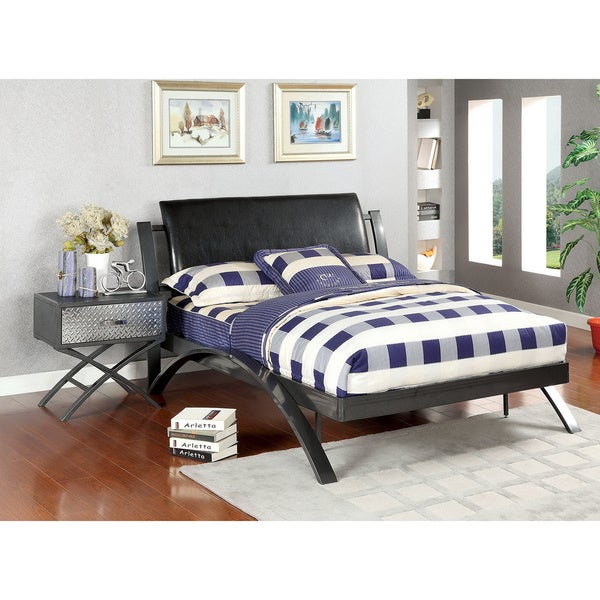 Furniture of america liam full size bed and nightstand for Full size bedroom furniture