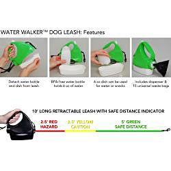3-in-1 Retractable Dog Leash - Pink/Black - Thumbnail 2