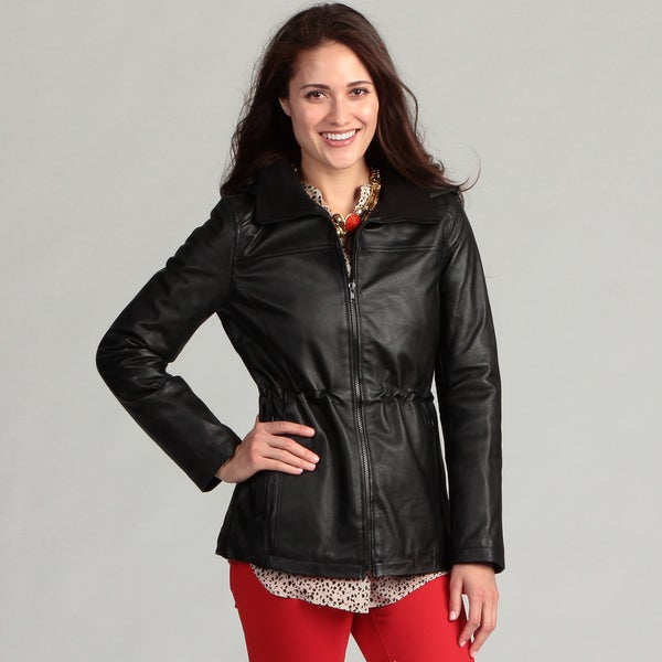 Bromley Women's Hooded Leather Jacket