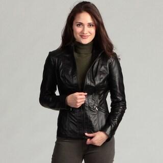 Avanti Women's Black Leather Jacket