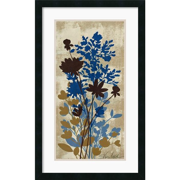 Silvia Vassileva 'Spring Bouquet I Tan' Framed Art Print