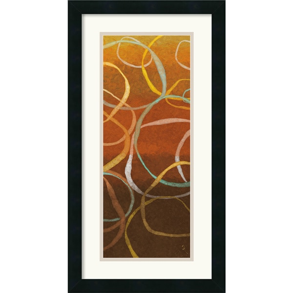 Sarah Adams 'Square Dancing Circles II' Framed Art Print