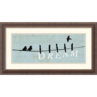 Alain Pelletier 'Birds on a Wire Dream' Framed Art Print