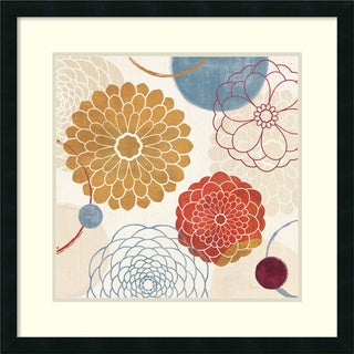 Framed Art Print 'Abstract Bouquet II' by Veronique Charron 26 x 26-inch