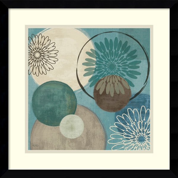 Veronique Charron 'Flora Mood I' 17 x 17-inch Framed Art Print