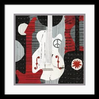 Michael Mullan 'Rock 'n Roll Guitars' 17 x 17-inch Framed Art Print