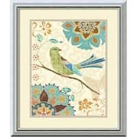 Framed Art Print 'Eastern Tales Birds II' by Daphne Brissonnet 17 x 20-inch