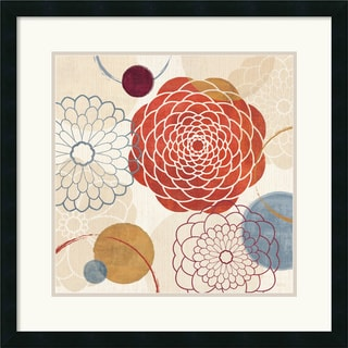 Framed Art Print 'Abstract Bouquet I' by Veronique Charron 26 x 26-inch