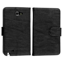 Leather Case with Stand/ Protectors for Samsung Galaxy Note N7000 - Thumbnail 2