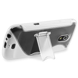 White TPU Case with Stand/ Protector for Samsung Galaxy Nexus i9250