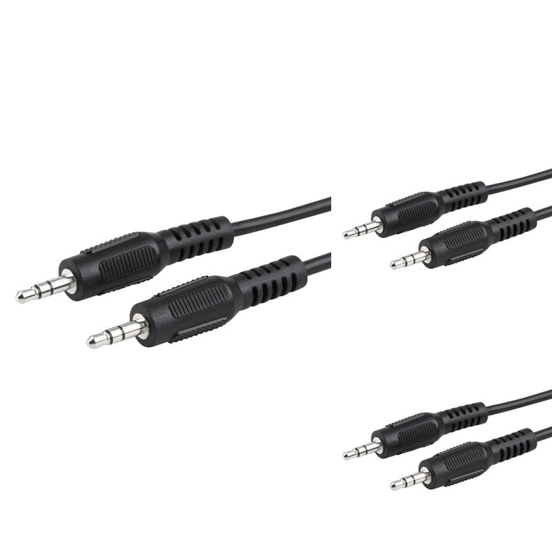 INSTEN 4.6-foot 3.5mm Male to Male Audio Extension Cable (Pack of 3)