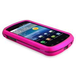 INSTEN Hot Pink Rubber Coated Phone Case Cover/ Protector for Samsung Stratosphere i405