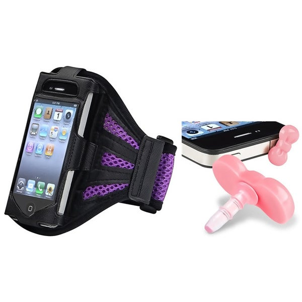 INSTEN ArmBand iPod Case Cover/ Headset Dust Cap with Hook and Loop Band for Apple iPod Touch Generation 2/